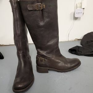 LL Bean brown leather riding zip up boots sz.9.5W